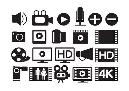 hd: Video Movie Multimedia Icons