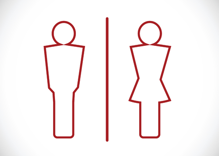 Restroom icon and Pictogram Man Woman Sign Ilustração