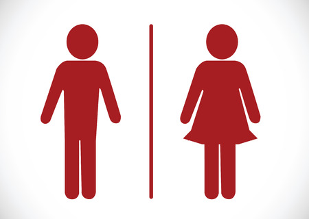 Restroom icon and Pictogram Man Woman Sign Illustration