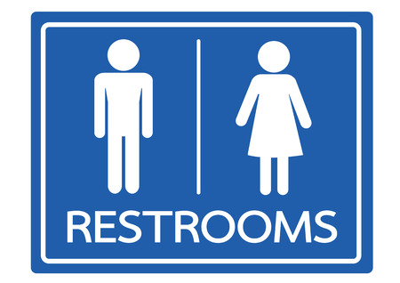 Restroom Symbol Male and Female  Icon Vector
