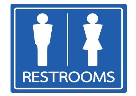 Toilettes Symbole Homme Et Femme Icône Clip Art Libres De Droits