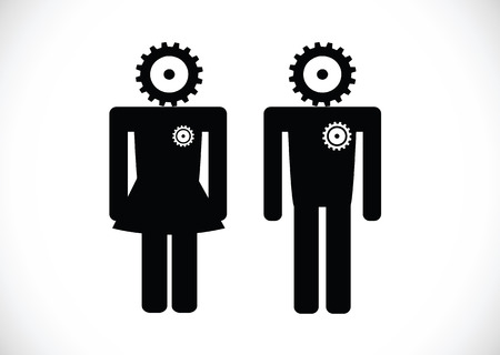 Pictogram Man Woman Sign icons, toilet sign or restroom icon Stock Vector - 30130768