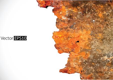 rusty background: Grunge ilustraci�n de fondo oxidado Vectores