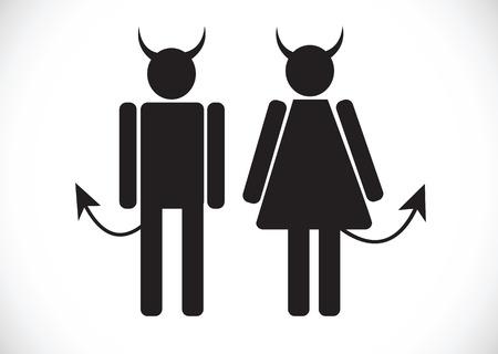 Pictogram Devil Icon Symbol Sign Vector