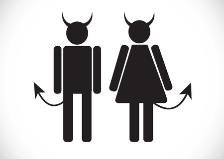 harass: Pictogram Devil Icon Symbol Sign