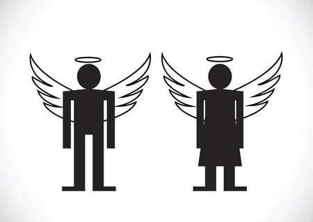 harass: Pictogram  Angel Icon Symbol Sign Illustration
