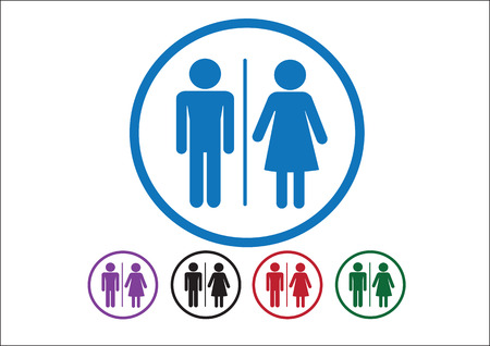Pictogram Man Woman Sign icons, toilet sign or restroom icon Stock Vector - 30131222
