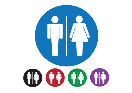 Pictogram Man Woman Sign icons, toilet sign or restroom icon Stock Vector - 30131352