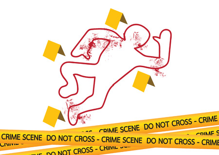 inquiry: Crime scene danger tapes  illustration