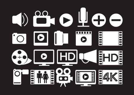 icone multimediali: Video Movie Multimedia Icons