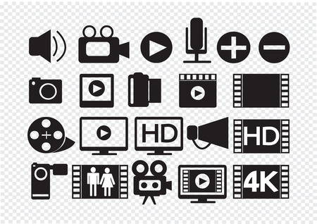 Video Movie Multimedia Icons