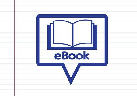 e reader: E-book reader  and e-reader icons set