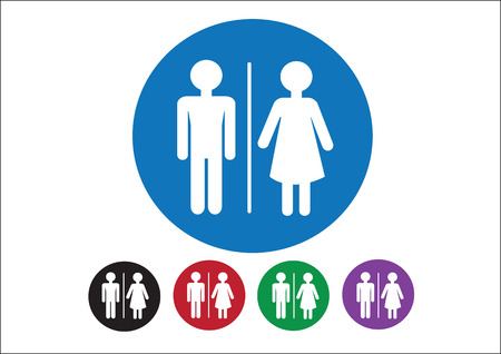 Pictogram Man Woman Sign icons, toilet sign or restroom icon Stock Vector - 30131920