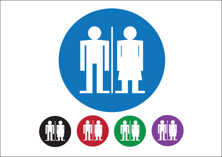Pictogram Man Woman Sign icons, toilet sign or restroom icon Stock Vector - 30131924