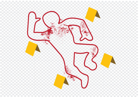 Crime scene danger tapes illustration Vector
