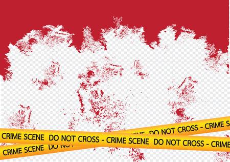 Crime scene danger tapes illustration Illustration