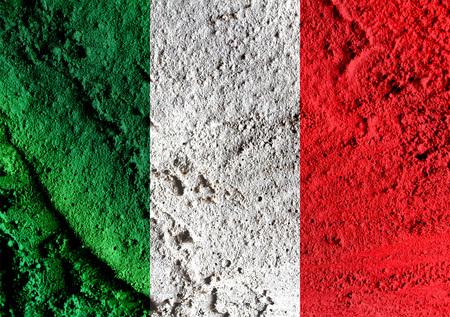 Italy flag icons theme idea for design photo