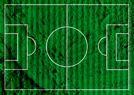 sideline: Soccer field or Football textured grass field on wall texture background design Stock Photo