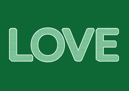 valentino: LOVE Font Type for Valentines day card Illustration