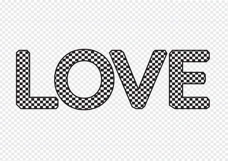 day saint valentin: LOVE Font Type for Valentines day card Illustration