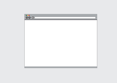 Open new browser window template  Vector