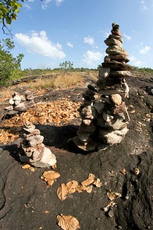atmospheric phenomena: Thailand Stonehenge Sao Chaleang ubonratchathani Province, Thailand Stock Photo