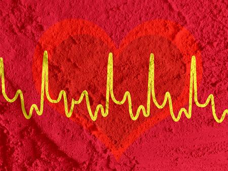 heart beat line photo