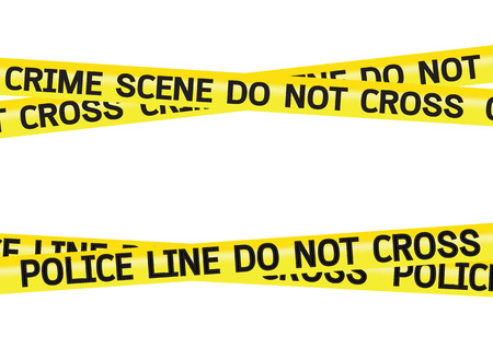 Crime scene danger tapes illustration Stock fotó - 34125052