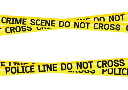 murder scene: Escena del crimen cintas de peligro ilustraci�n