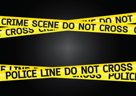 csi: Crime scene danger tapes illustration Illustration