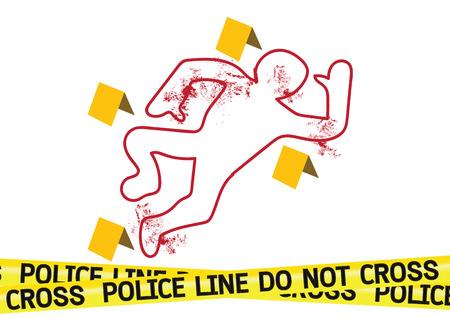 csi: Escena del crimen cintas de peligro ilustraci�n