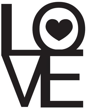 day saint valentin: Font Type , LOVE Happy Valentines day Illustration