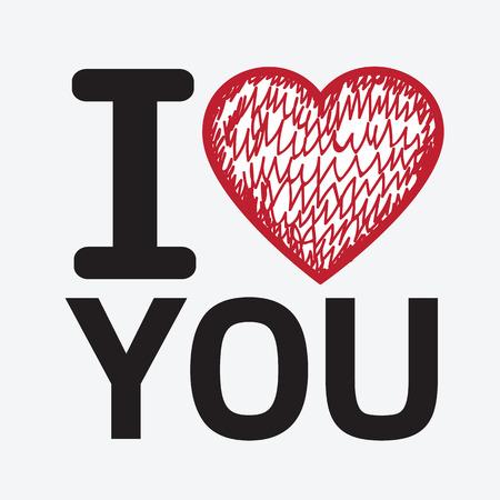 sentimental: I love you illustration