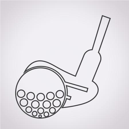sand trap: Golf Icon illustration Illustration