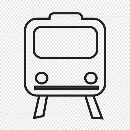 transportation icon: Train Icon ,  train,  transportation icon Illustration