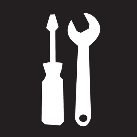 instrumentation: Tools icon illustration Illustration