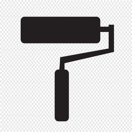 paint roller icon illustration