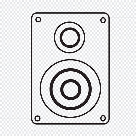 loud speaker: Audio speakers icon Illustration