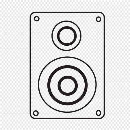 disco speaker: Audio speakers icon Illustration