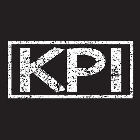 defined: KPI Word illustration