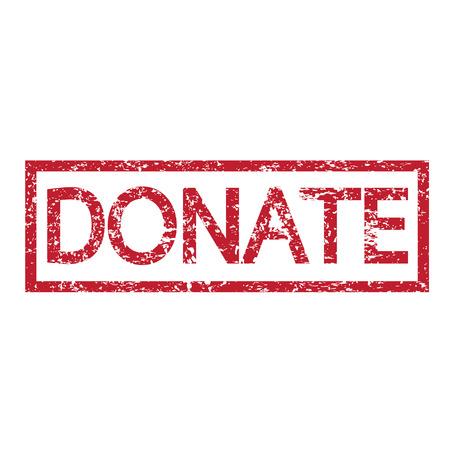 pleading: stamp word donate illustration