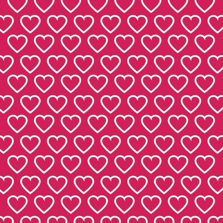 Vector heart Valentines day pattern background Vector