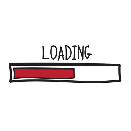 loading. Progress bar design. Vector illustration