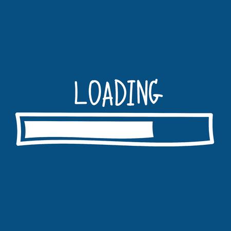 loading. Progress bar design. Vector illustration Vector