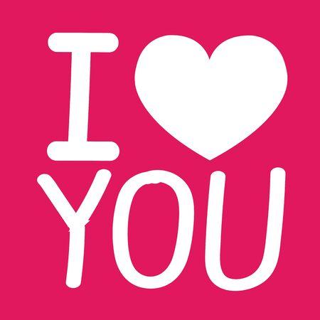sentimental: I Love You icon  Illustration