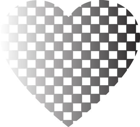 Heart shape vector design , Happy Valentines day ,Love , Checkered heart illustration