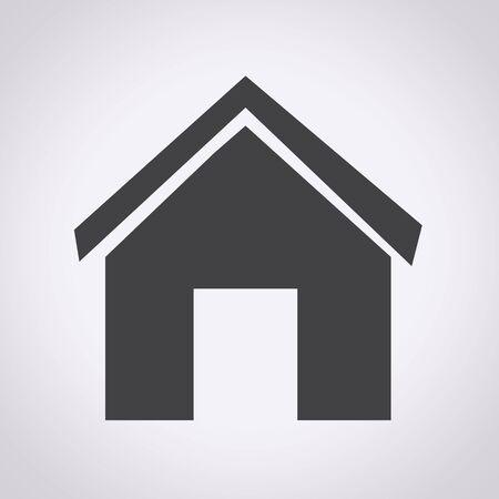 icono inicio: Inicio Icono de la ilustraci�n Vectores