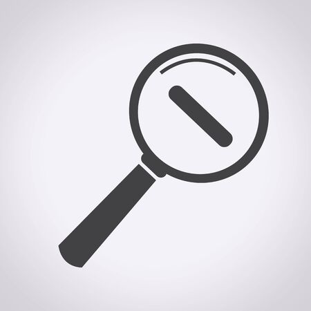 lupa: Acercar y Alejar icono ilustraci�n