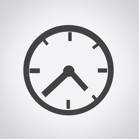 caritas pintadas: Reloj icono ilustración