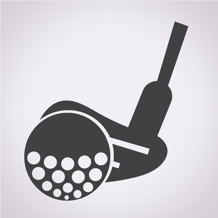 sand trap: Golf Icon illustration